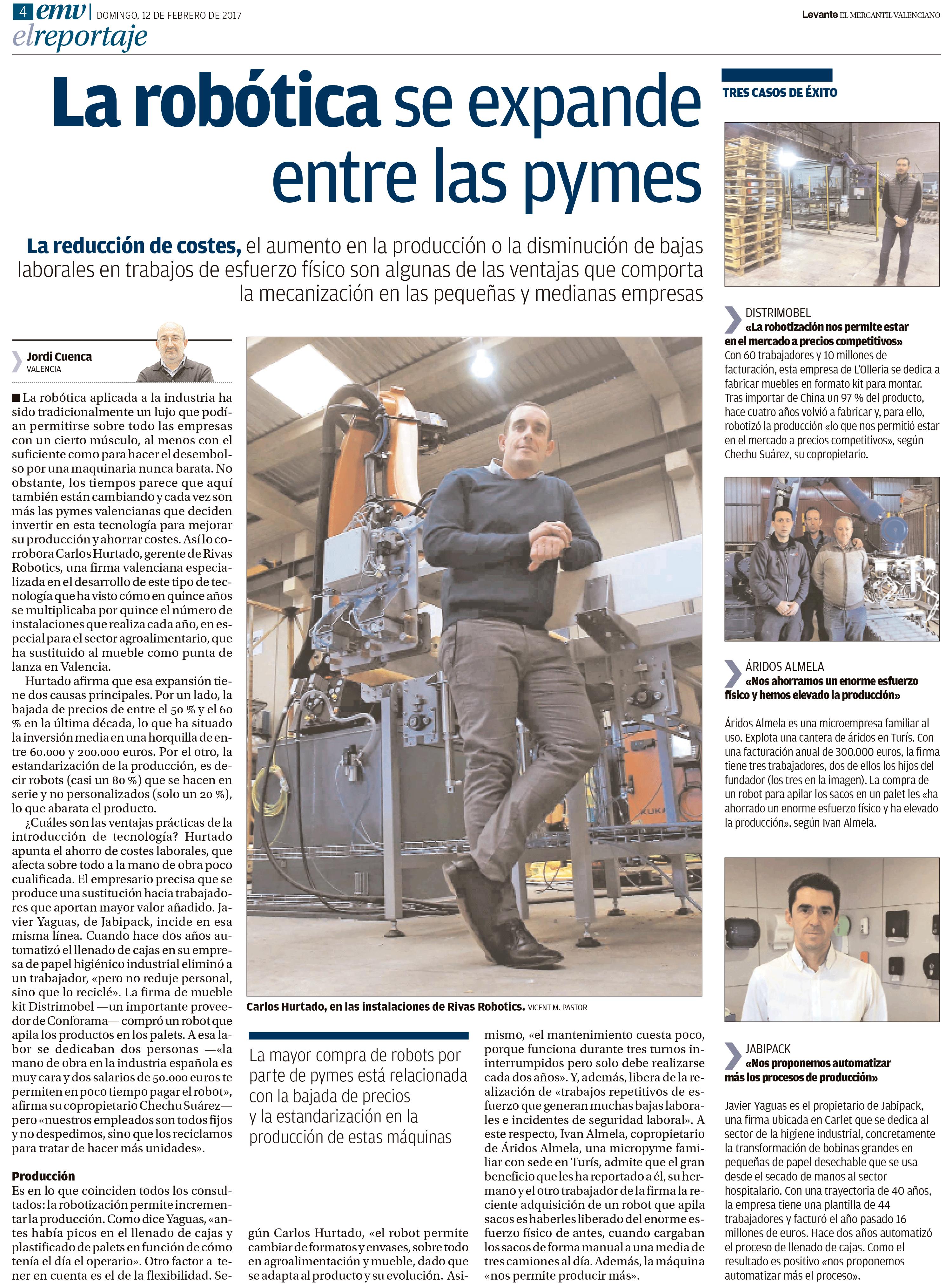 Levante el mercantil Valenciano Rivas Robotics