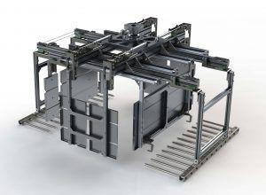 Planos en 3D sobre la garra por capas