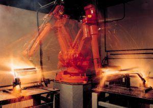 Robot industrial de soldadura