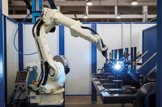 Robot industrial para soldar