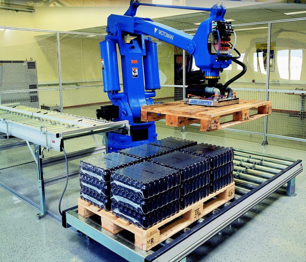 Robot despaletizador industrial