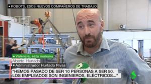 Alberto Hurtado, atendiendo a La Sexta Noticias