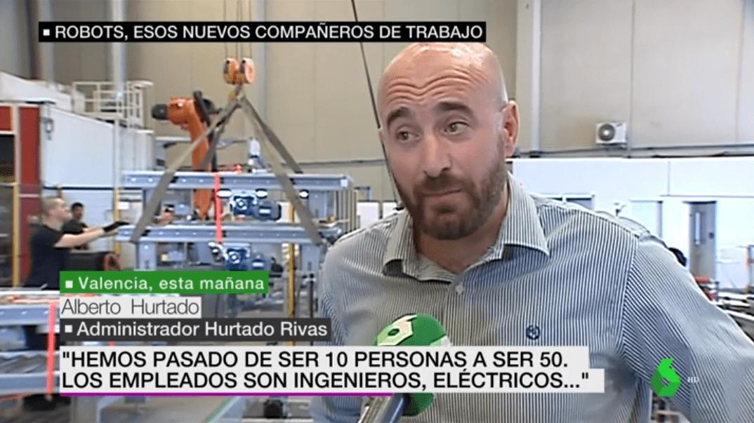La robótica de Grupo Hurtado Rivas en La Sexta Noticias